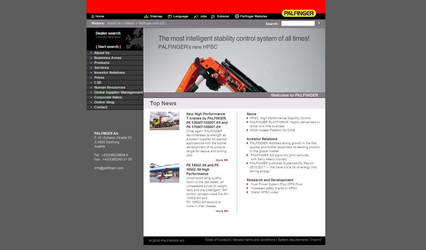 alte Webseite
