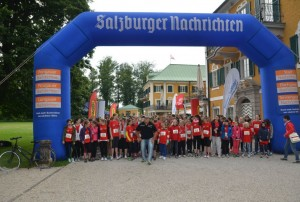 Im Laufschritt beim AMREF Kids Challenge Race