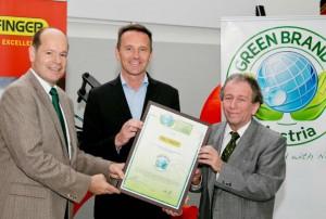 """PALFINGER ist als erstes österreichisches Industrieunternehmen ein """"Green Brand"""""""