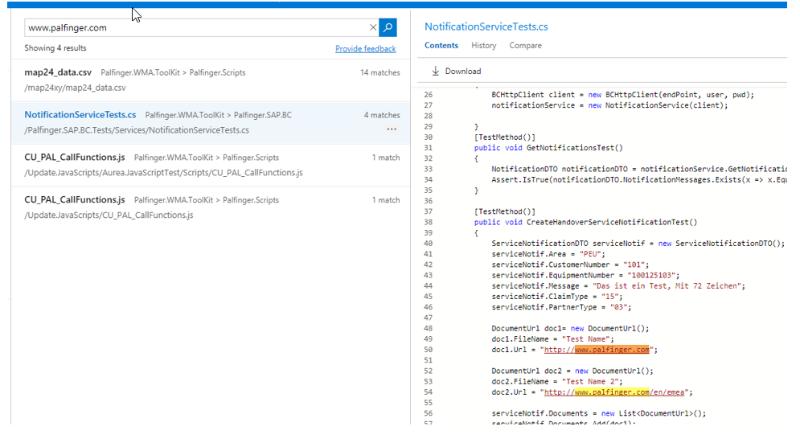 Code Search (Visual Studio Team Services)