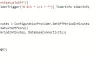 Azure function trigger code