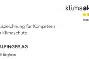 Auszeichnung für Kompetenz im Klimaschutz_Header